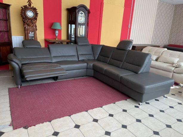Новый кожаный диван, угловой кожаный диван, релакс Германия