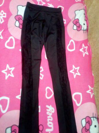 Лосины леггинсы штаны черные новые стрейчевые размер 40, 42