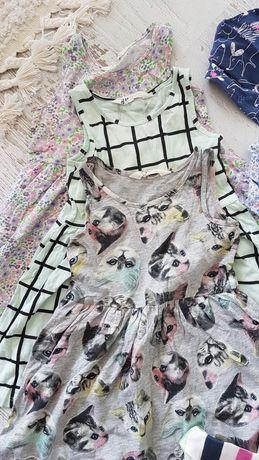 3 szt Sukienka  lato roz 104 zestaw h&m