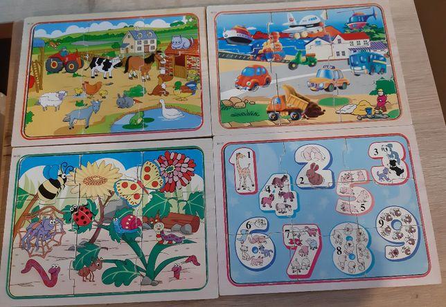 Zestaw edukacyjnych zabawek dla dziecka