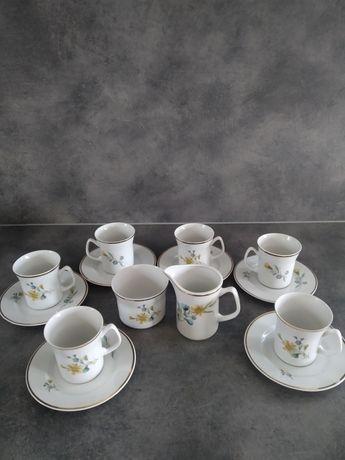 Serwis kawowy z porcelany Włocławek PRL