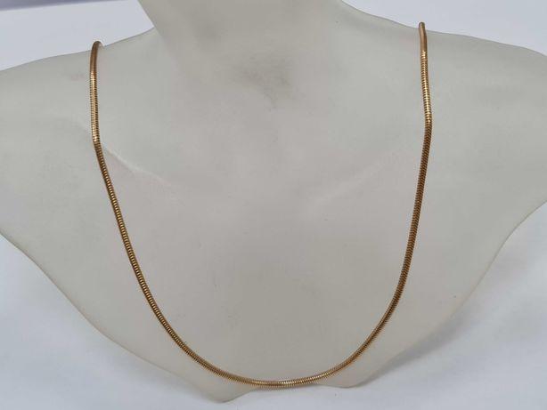 Wyjątkowy złoty łańcuszek damski/ 750/ Żmijka/ 14.41 gram/ 55cm