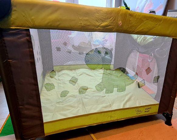 Kojec dla dziecka zielony 90x90 conti baby