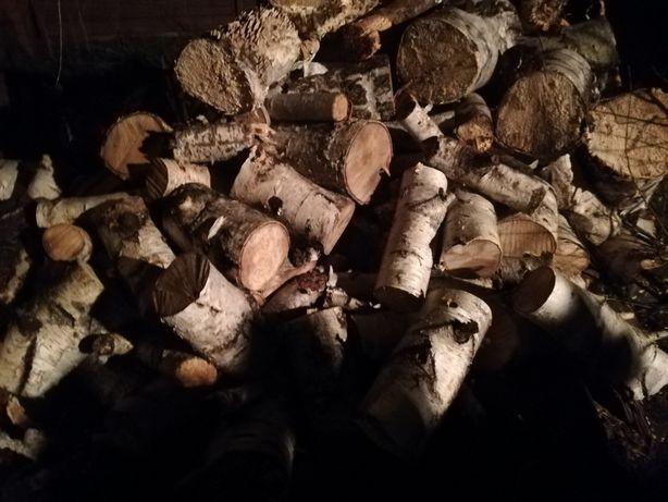 Drewno opałowe kominkowe sezonowane brzoza sosna dąb tanie