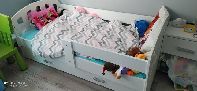 Rezerwacja do 26.09. Sprzedam łóżko dziecięce 160x80 z materacem