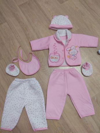 Костюм тёплый, набор, комплект для новорожденных от 0