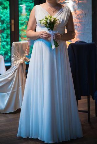 Suknia ślubna styl grecki rozmiar 42/44, 170-175 cm wzrostu