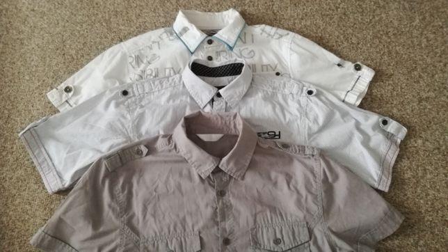 koszula koszule z krótkim rękawem męskie xs rozm. 146