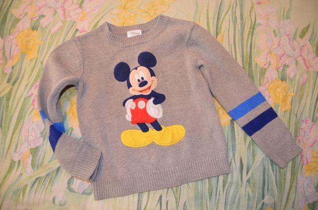 Классный свитер с Микки маусом 3-4 года