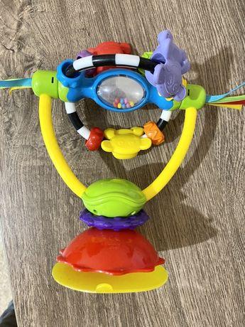Погремушка/ игрушка на стул для кормления, на присоске, веселые обезья