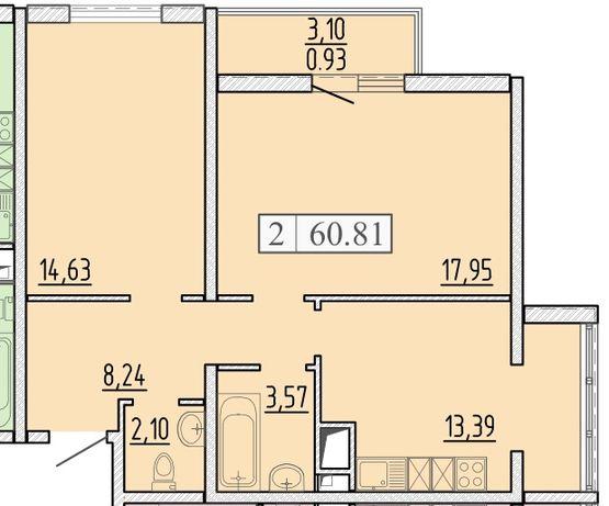 Продам квартиру с видом на море ! в 58 Жемчужине от Кадорр