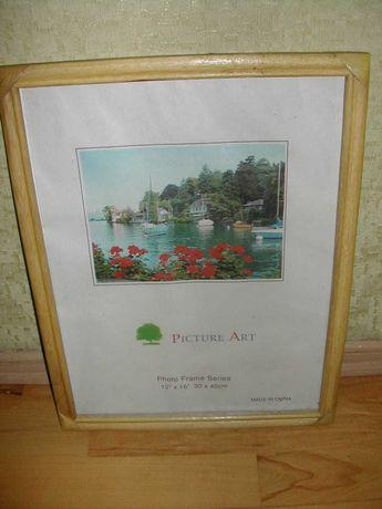 Рамку багет для картины 30 х 40 натуральное дерево Дуб
