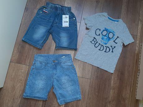 Zestaw Ubrań Chłopiec Szorty Jeansowe Jeans T-shirt H&M 116 cm