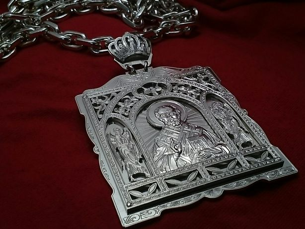 Икона, серебро, ручная работа 69,7 гр.