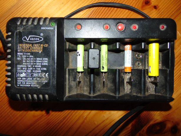 Ładowarka uniwersalna na różne baterie(akumulatorków)ANSON szwedzka