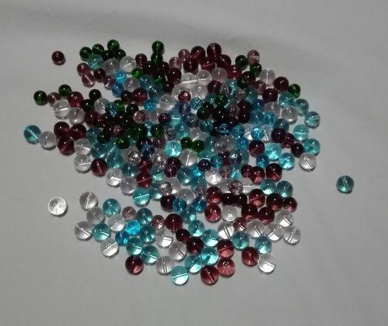 koraliki szklane 100 sztuk mix kolor.