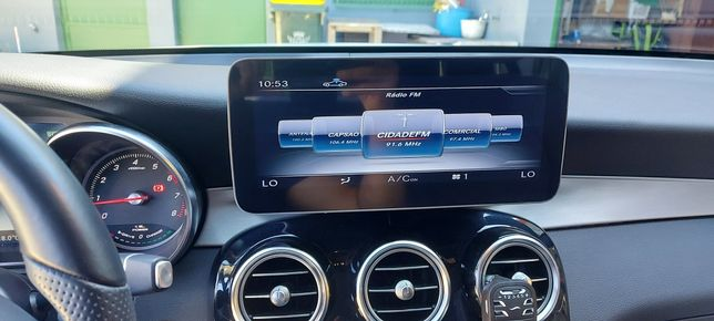 Ecrã 10.25,  Android 10 + Android auto Carplay Mercedes w205