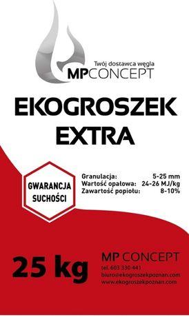 Ekogroszek Extra wysokoenergetyczny Workowany 25kg Suchy!!!