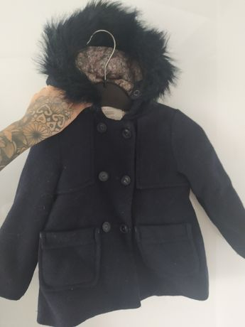 Płaszcz płaszczyk zara 98 2-3 lata granatowy