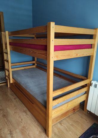 Łóżko piętrowe - solidne drewniane
