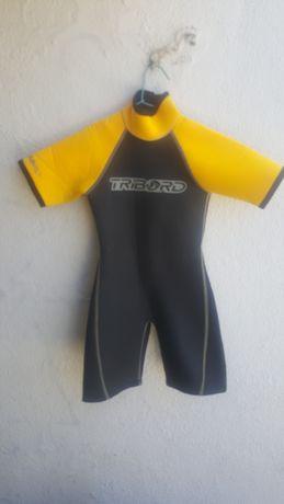 Fato surf criança short para 6 anos