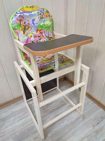 Стульчик деревянный для кормления малышей трансформер 3в1  В НАЛИЧИИ