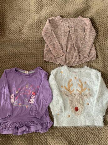Свитер кофты для девочки 2-3 года