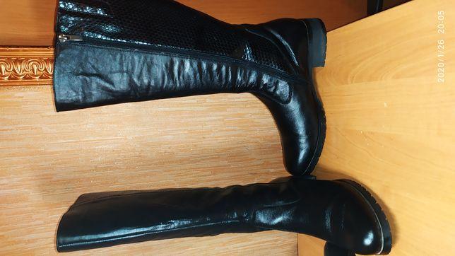 Продам сапоги кожаные зима