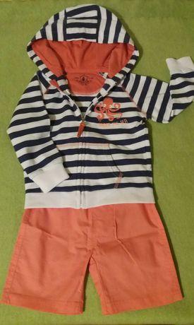 NOWY zestaw chłopięcy letni (bluza i spodenki) COOL CLUB roz. 92