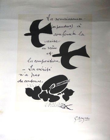 Litografia Georges Braque La Renaissance