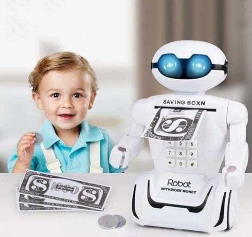 Копилка детский сейф с кодовым замком и купюроприемником для бумажных