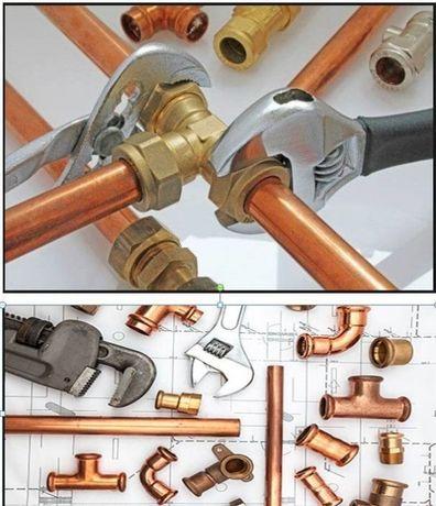 Usługi hydrauliczne 24 h. Woda, kanalizacja, c.o, gaz. Hydraulik .