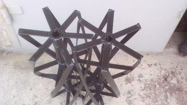 Борона роторная для мотоблока с вод.охлаждением (вал шестишлиц)Ø32(26)