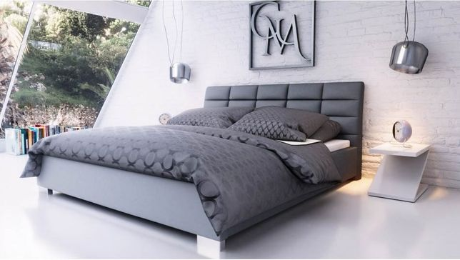 Łóżko tapicerowane Kendi 160x200 z stelażem i materacem !