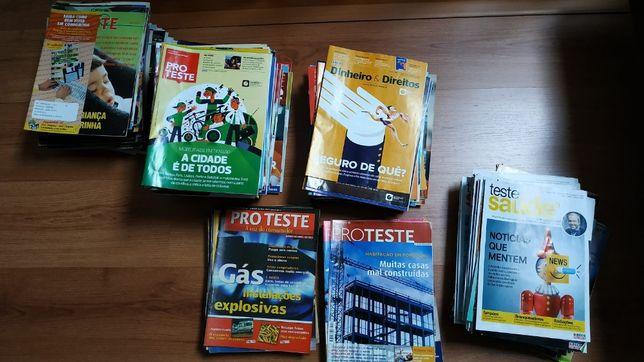 PRO TESTE, Dinheiro & Direitos e Teste Saúde - 246 revistas