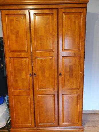 Meble Komplet do sypialni Drewniane szafa łóżko 160x200 komoda