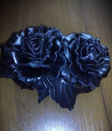 Заколка Розы (кожа)