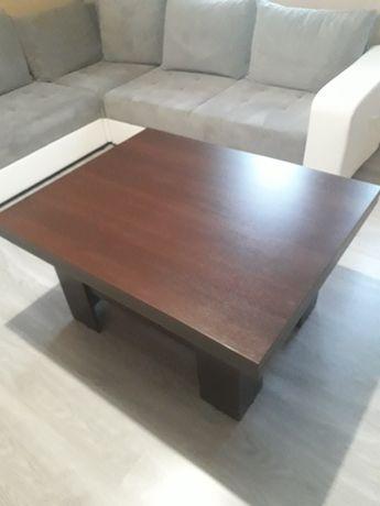 Ławostół, w kolorze wenge, po rozłożeniu pełnowymiarowy stół