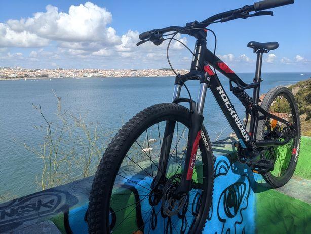 Bicicleta Btwin Rockrider 530 S Full Suspension Roda 27,5 Tamanho M