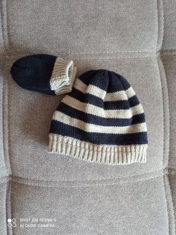 Nowy zestaw Czapka i rękawiczki dla chłopca 6 - 12 miesięcy