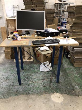 Stół warsztatowy, solidny, metalowy