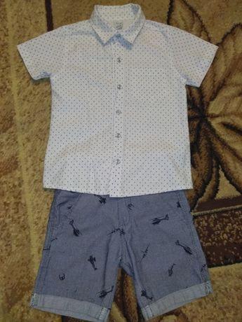 Рубашка, шорты, костюм, сорочка, 4-5років