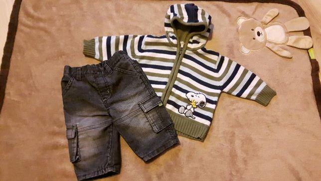 H&M zastaw dla chłopca bluza Snoopy + spodnie 3-6 m-cy 68cm