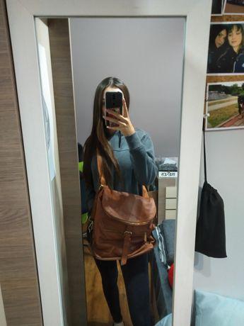Brązowy plecak torba