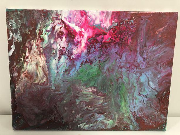Картина в стиле fluid art, акрил, холст на подрамнике