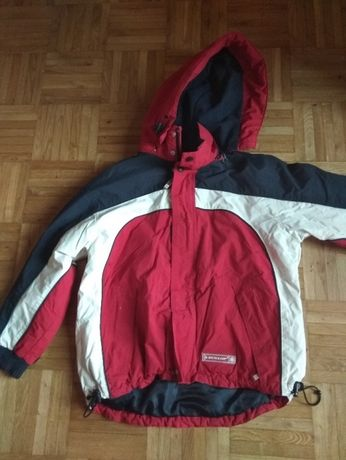 profesjonalna, czerwona kurtka narciarska, Dunlop - rozmiar 140cm