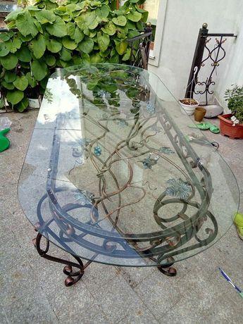Кованая садовая мебель, стол, стулья, гарнитур, комплект , 2007х900