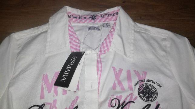 nowa modna koszula damska z łatkami na rękawach