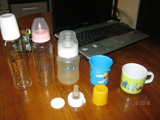 Набор детской посуды,бутылочки,чашки,тарелки Avent,Canpol,M.Gulliver