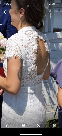 Sukienka ślubna,poprawiny, ślub cywilny krótka sukienka ślubna